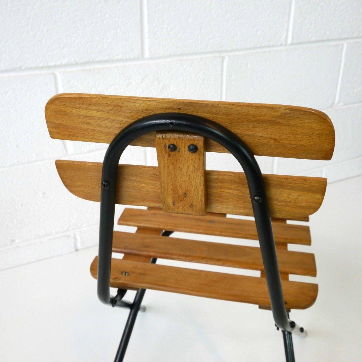 klappstuhl f r kinder 1960er bei pamono kaufen. Black Bedroom Furniture Sets. Home Design Ideas