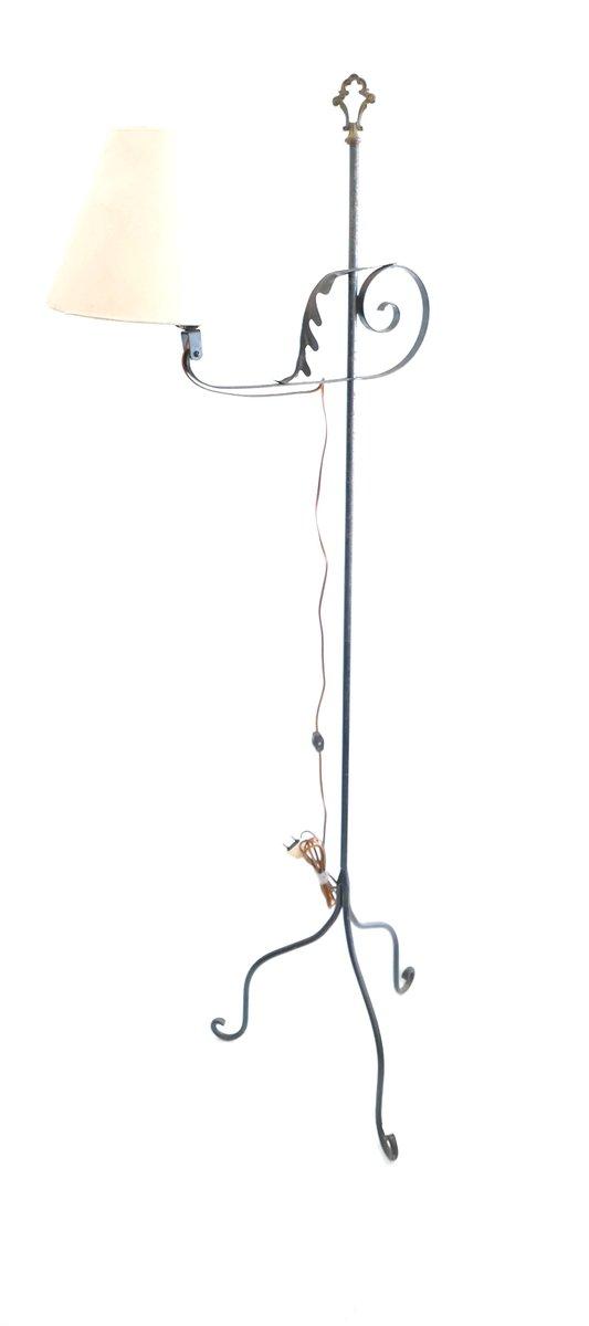 Vintage Schmiedeeisen Stehlampe, 1960er