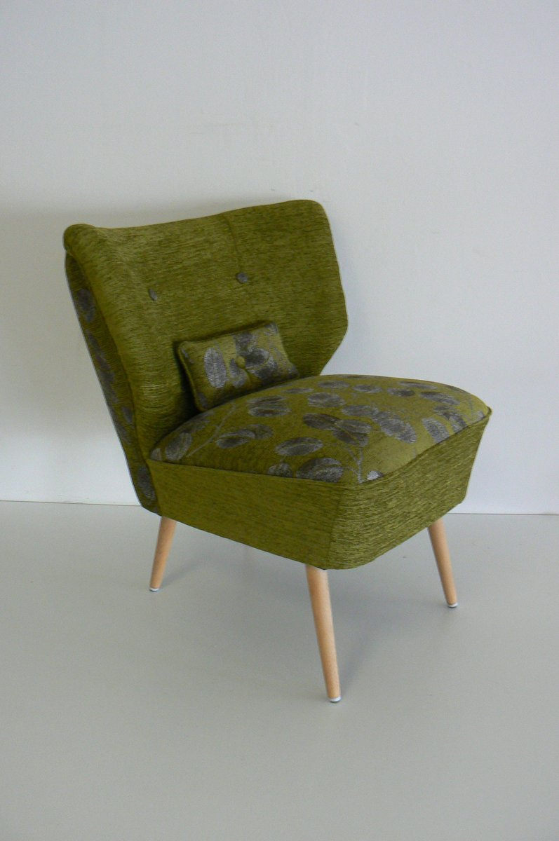 Vintage Cocktail Chair With Beech Legs 1950s For Sale At