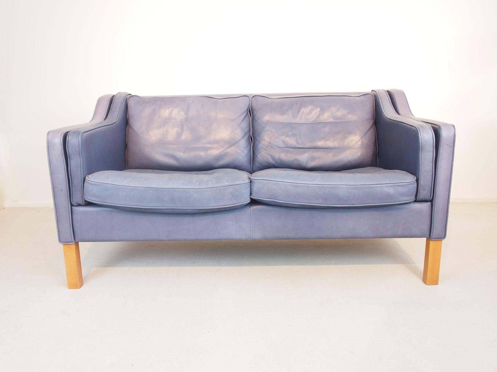 Bezaubernd Hellblaues Sofa Beste Wahl Blaues Vintage Anilin Von Georg Thams