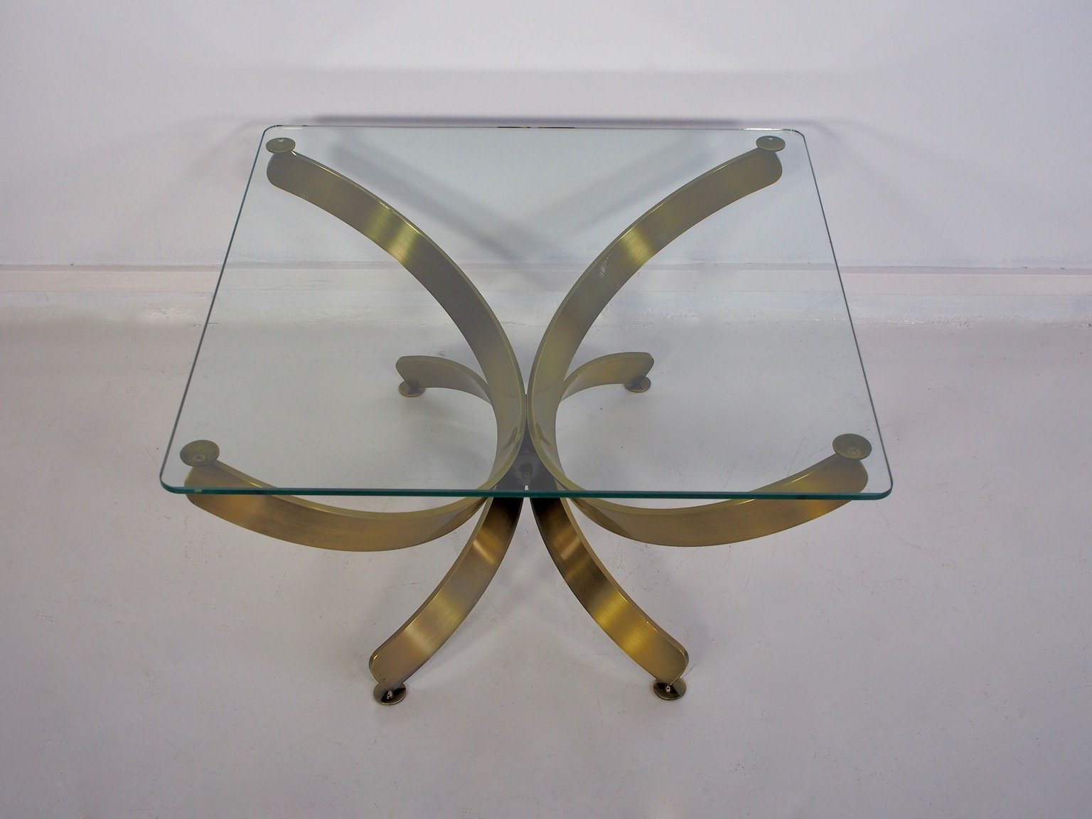 Vintage Glass Coffee Tables, Set Of 2