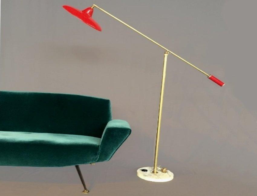 Italian Red Floor Lamp