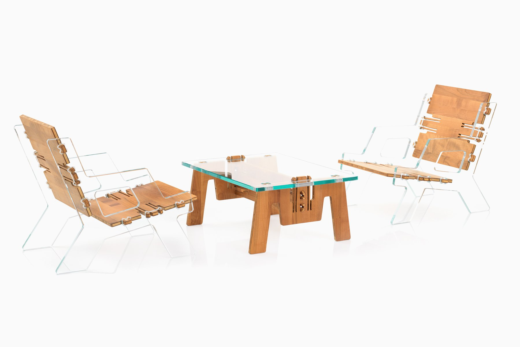 Cliclounge Gl Miami Set Of 2 Chairs Coffee Table By Alexander Pelikan