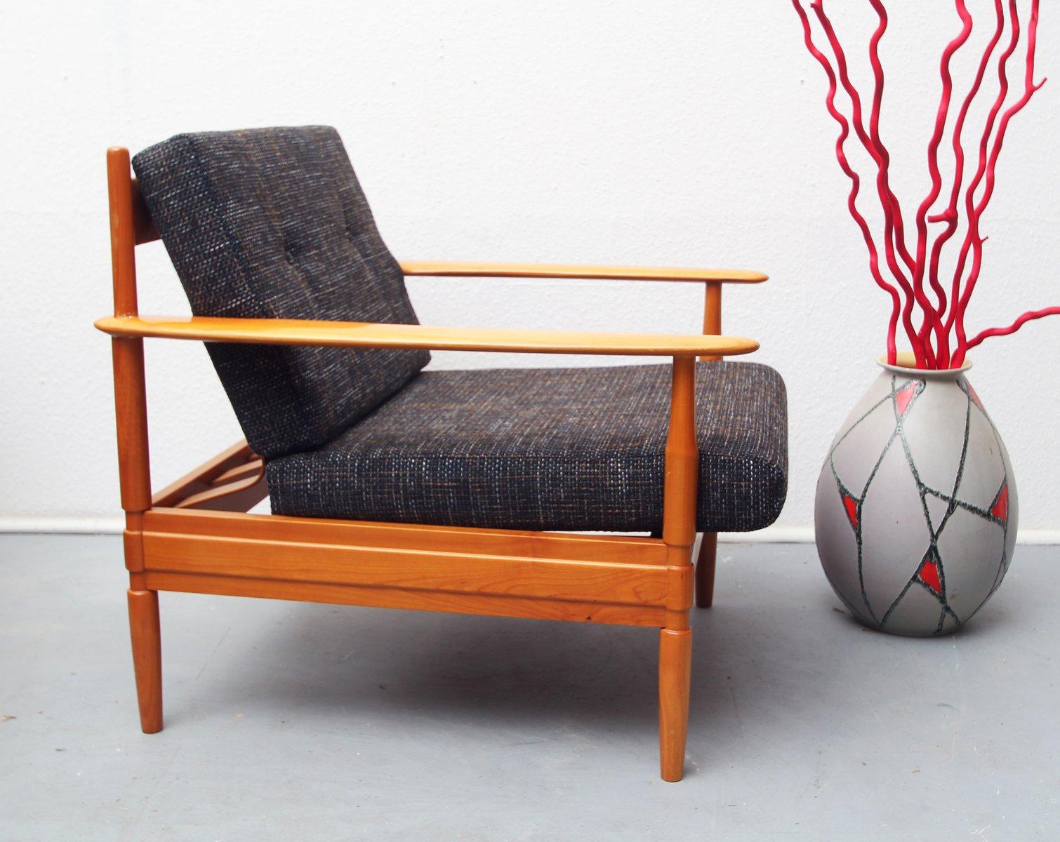 Kirschholz Sessel aus Deutschland, 1960er