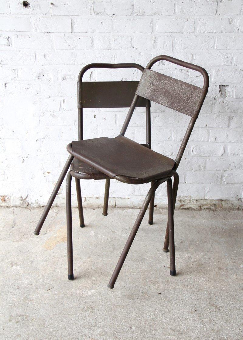 chaise industrielle en m tal en vente sur pamono. Black Bedroom Furniture Sets. Home Design Ideas