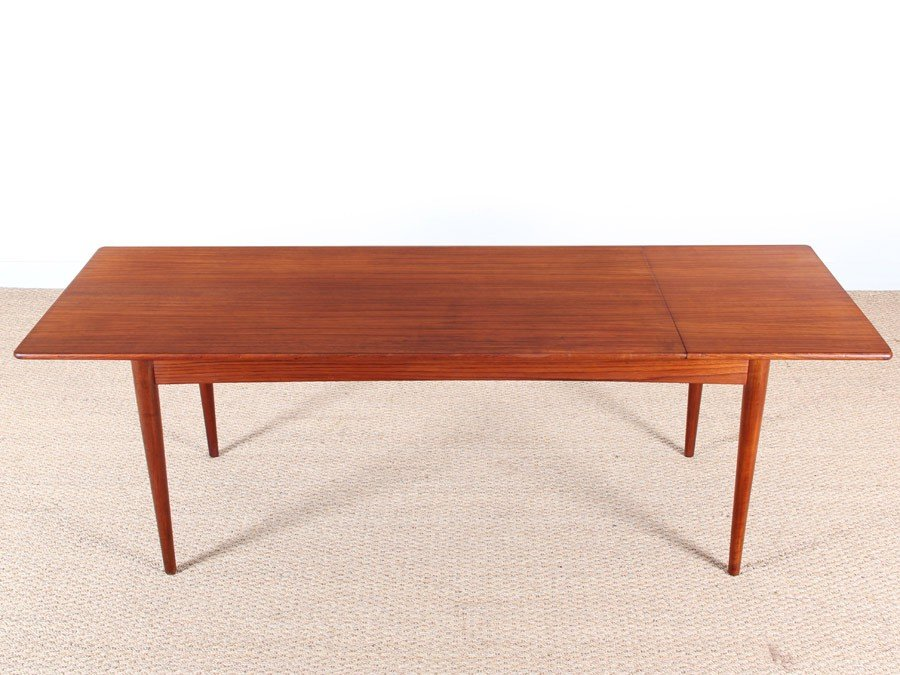 teak extendable danish coffee table for sale at pamono. Black Bedroom Furniture Sets. Home Design Ideas