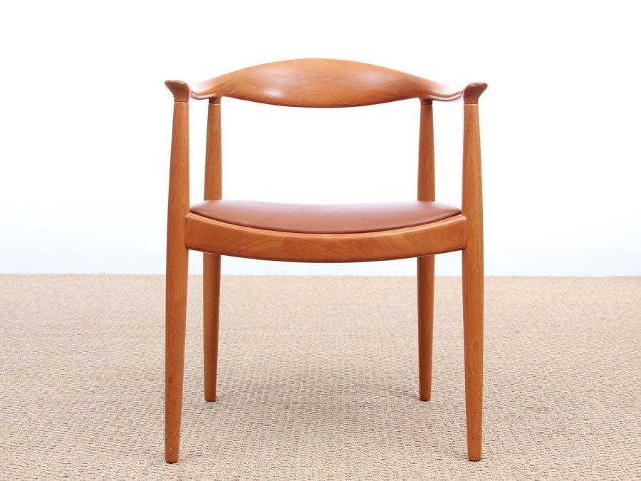 Skandinavischer The Chair Sessel von Hans J. Wegner für Johannes Hanse...