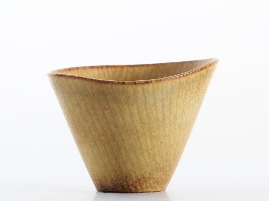 Braune Skandinavische Keramik Schüssel von Rörs...