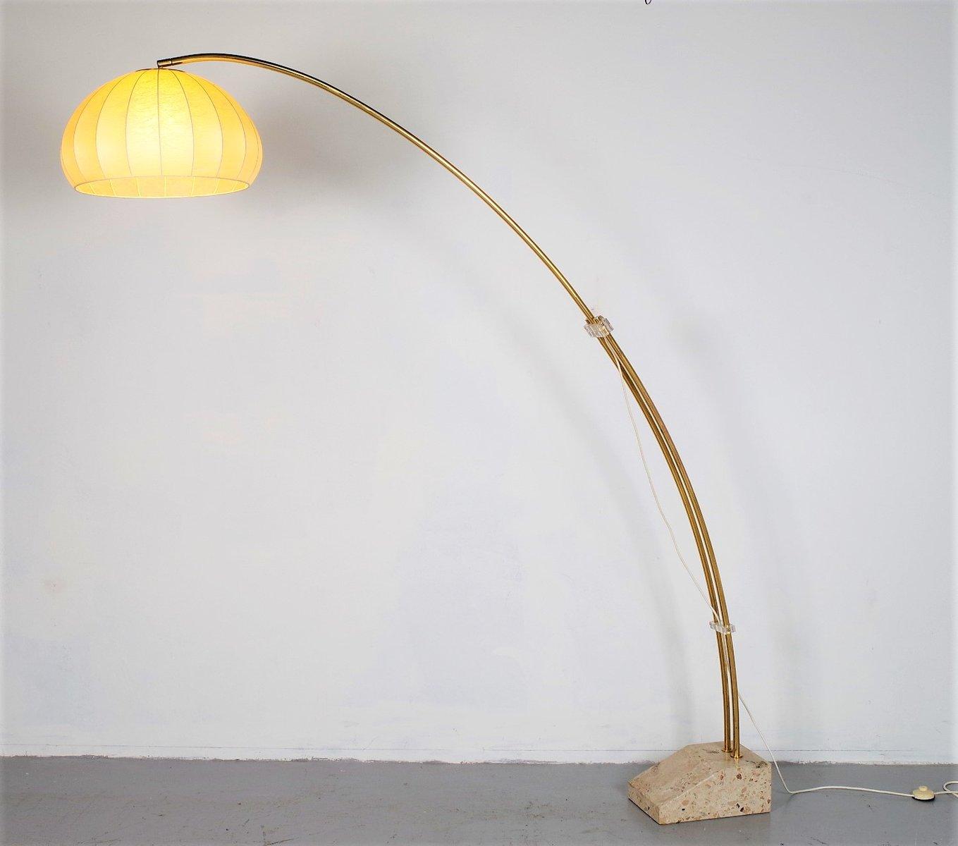 Geschwungene Vintage Stehlampe vom Hustadt, 1960er