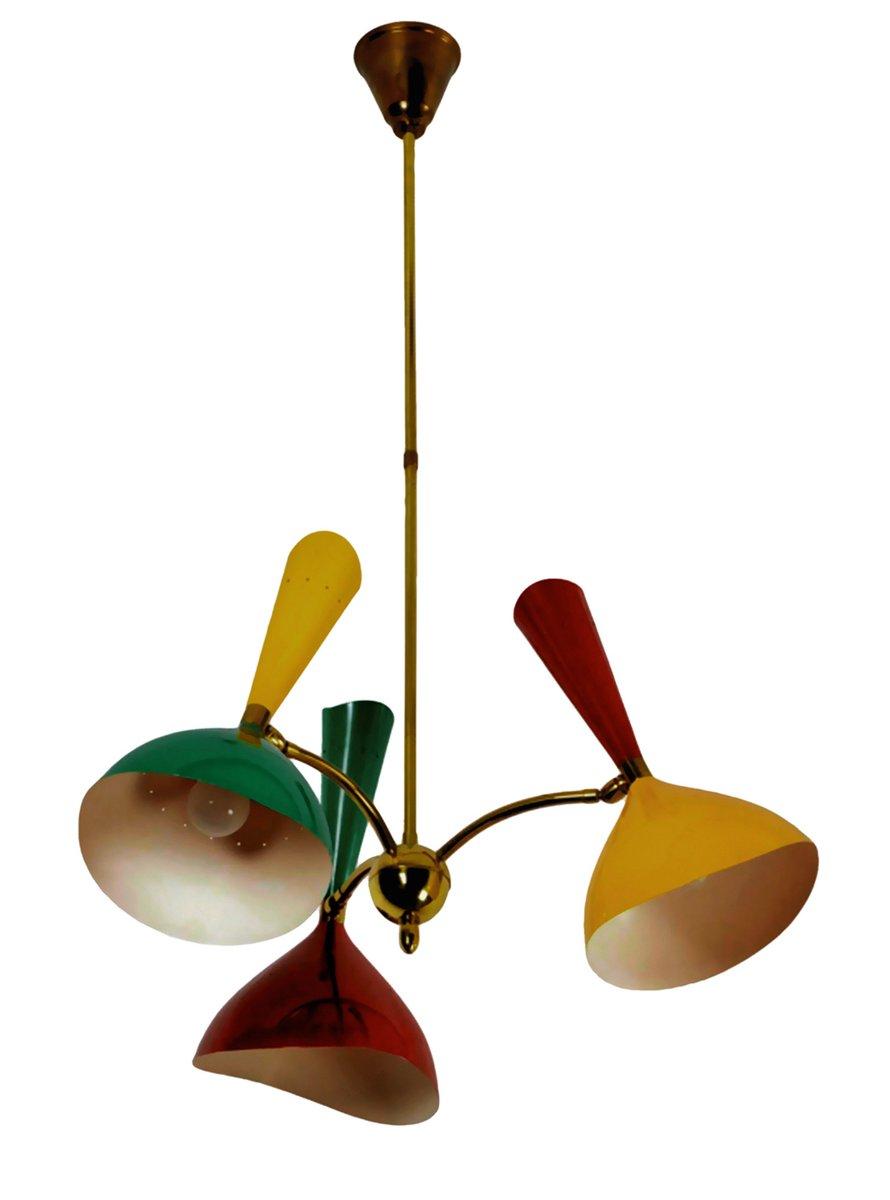 Italienische Mid-Century Diabolo Deckenlampe von Stilnovo, 1950er