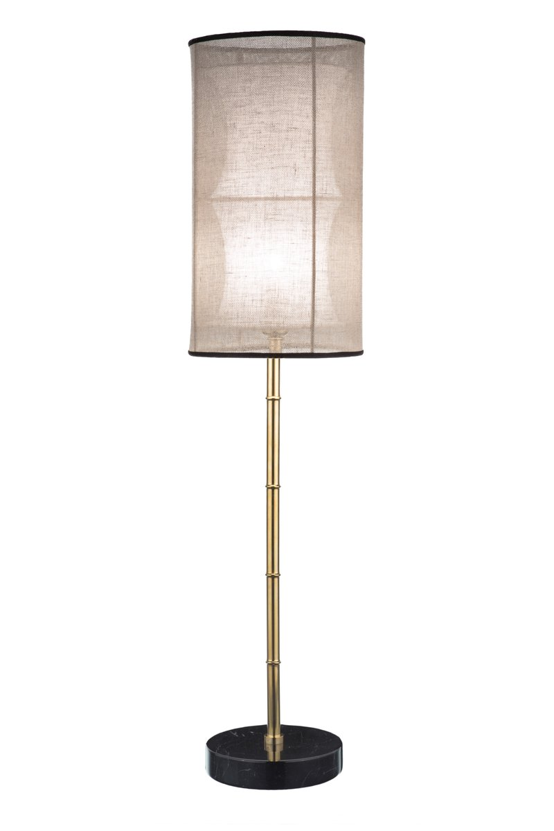 Eclectic Tischlampe mit Fuß in Bambusstiel-Optik von Brass Brothers