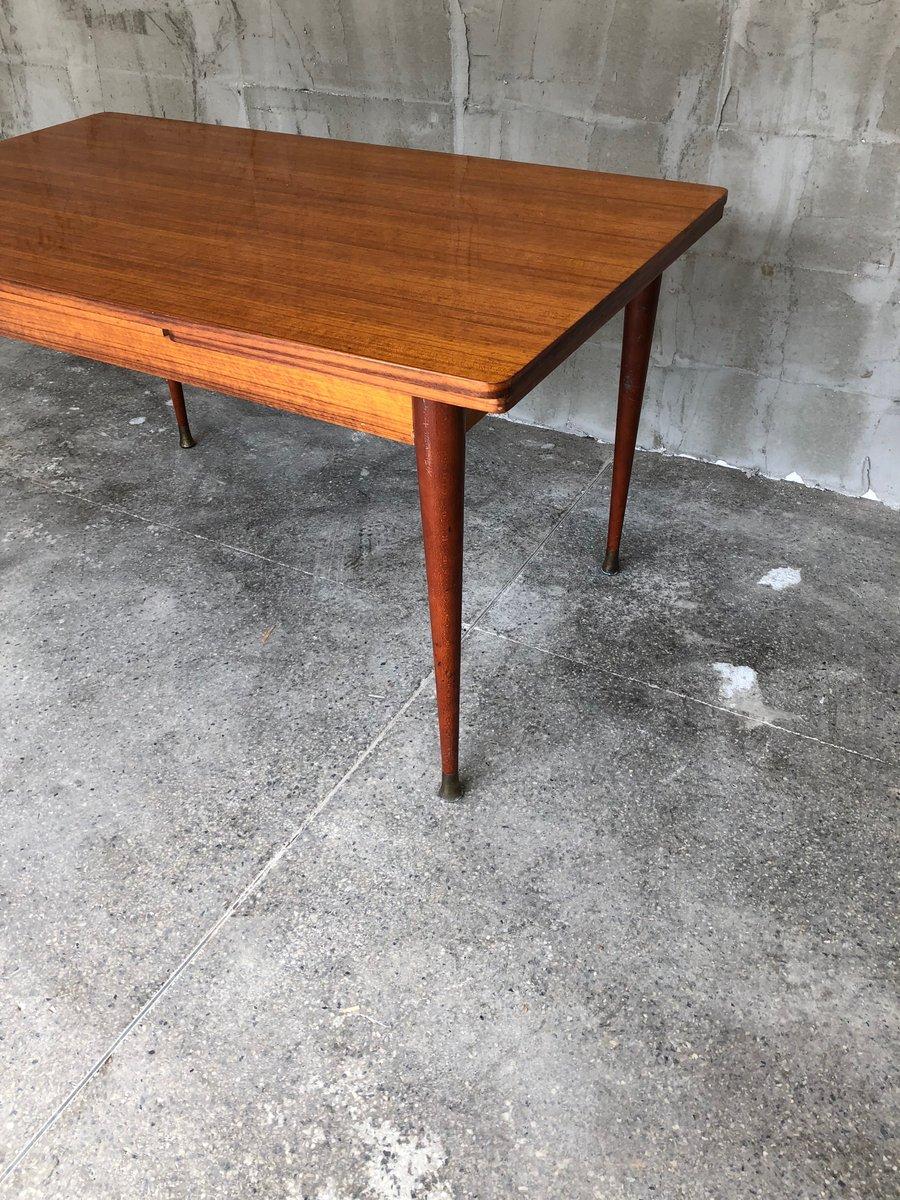table de salle manger extensible en acajou france 1950s en vente sur pamono. Black Bedroom Furniture Sets. Home Design Ideas