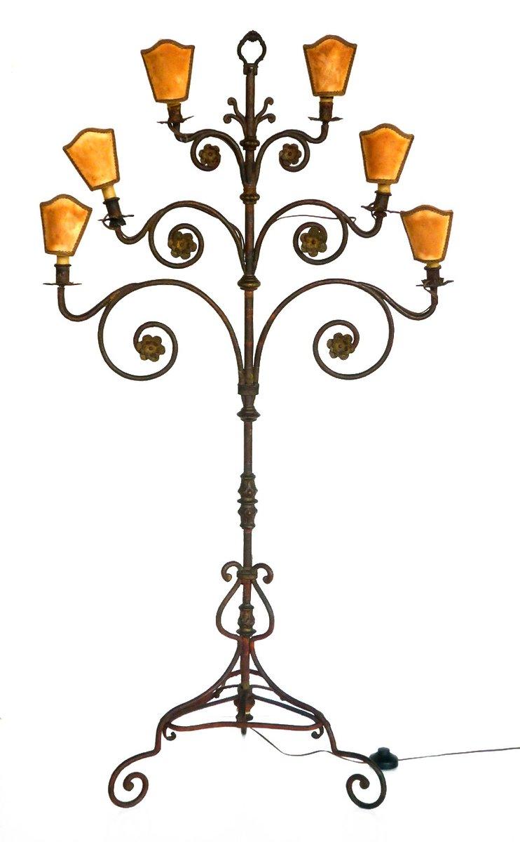 Schmiedeeisen Stehlampe, 1940er