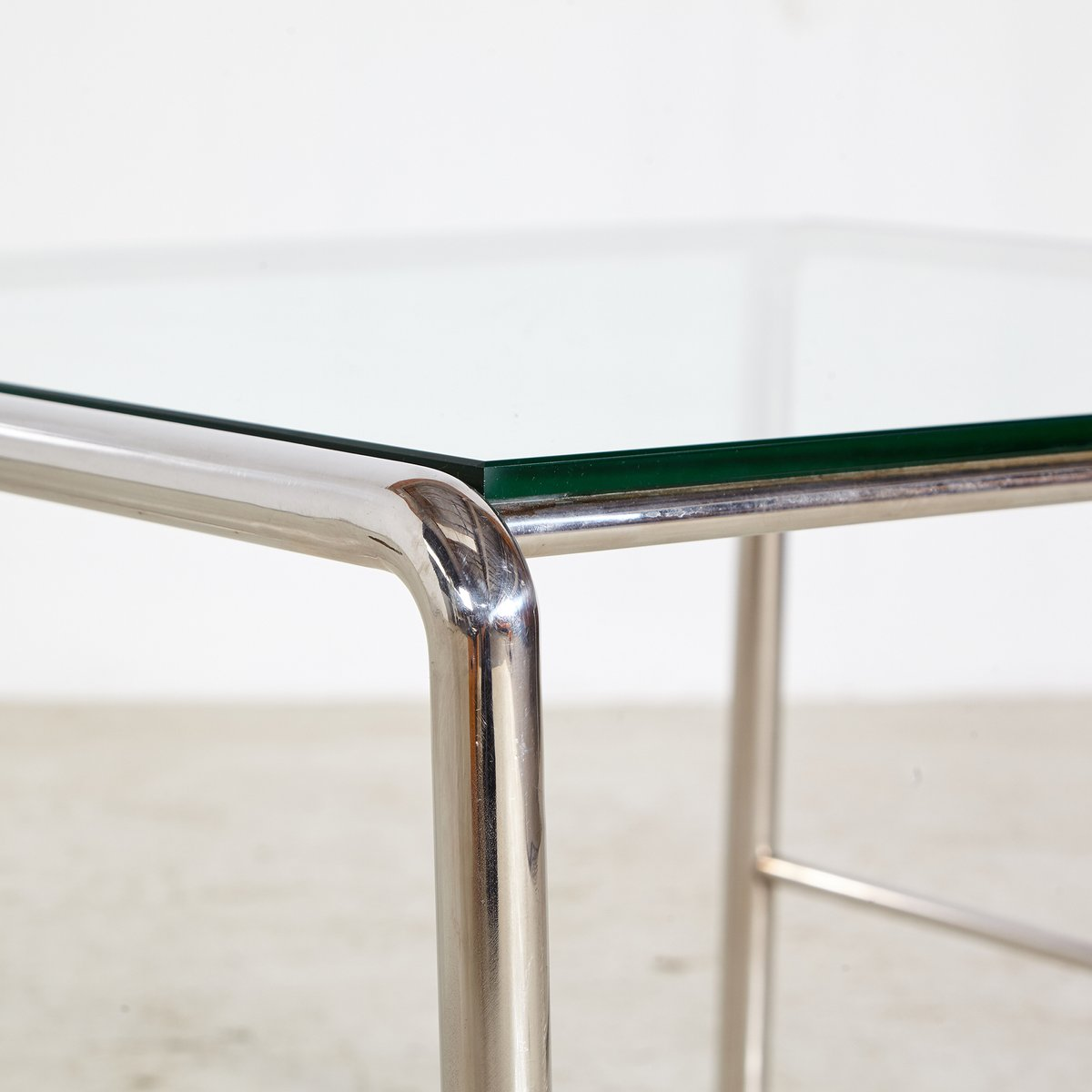 Vintage Coffee Table with Chrome Frame & Glass Top, 1960s for sale ...