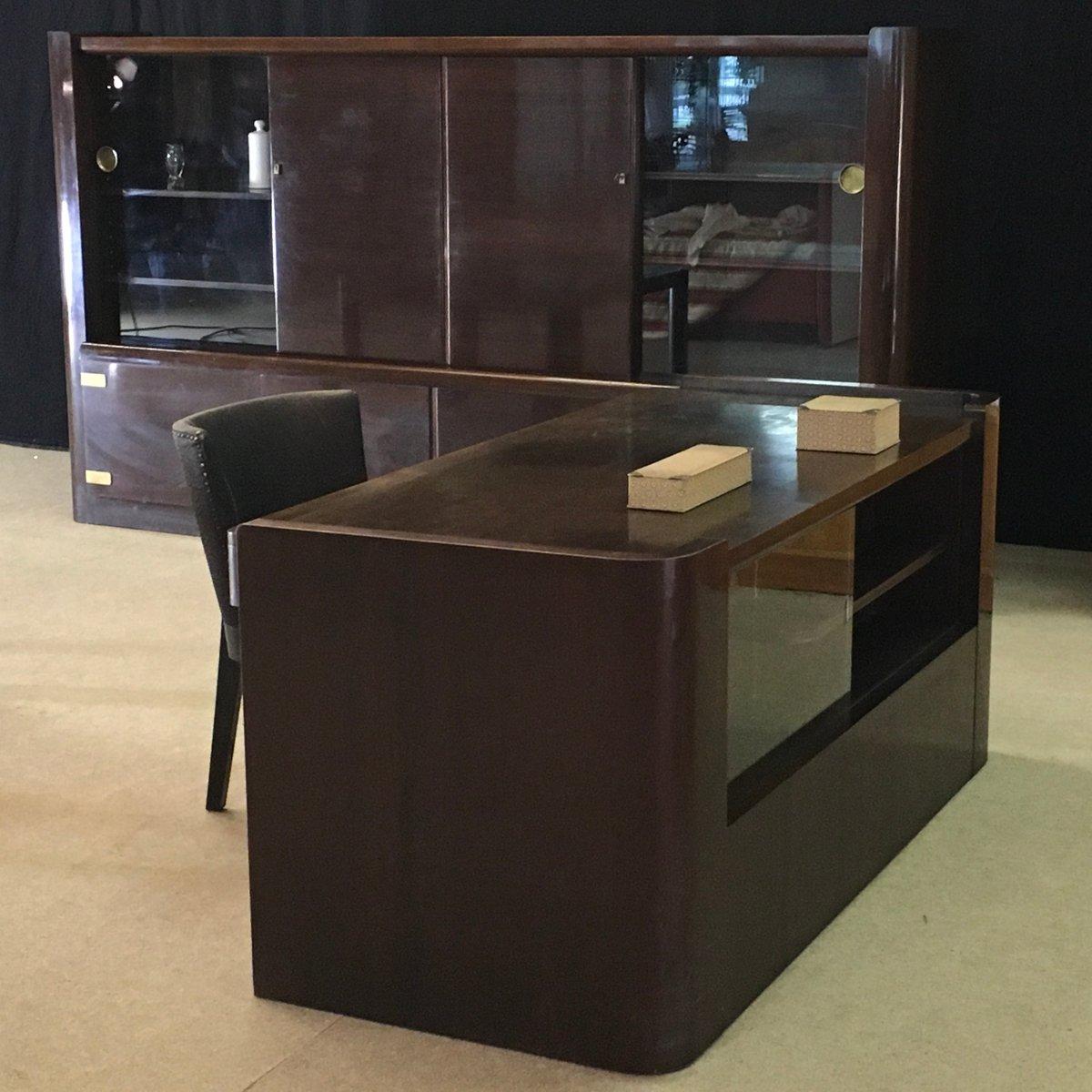 vintage schreibtisch stuhl und tisch von bruno paul f r wk m bel bei pamono kaufen. Black Bedroom Furniture Sets. Home Design Ideas