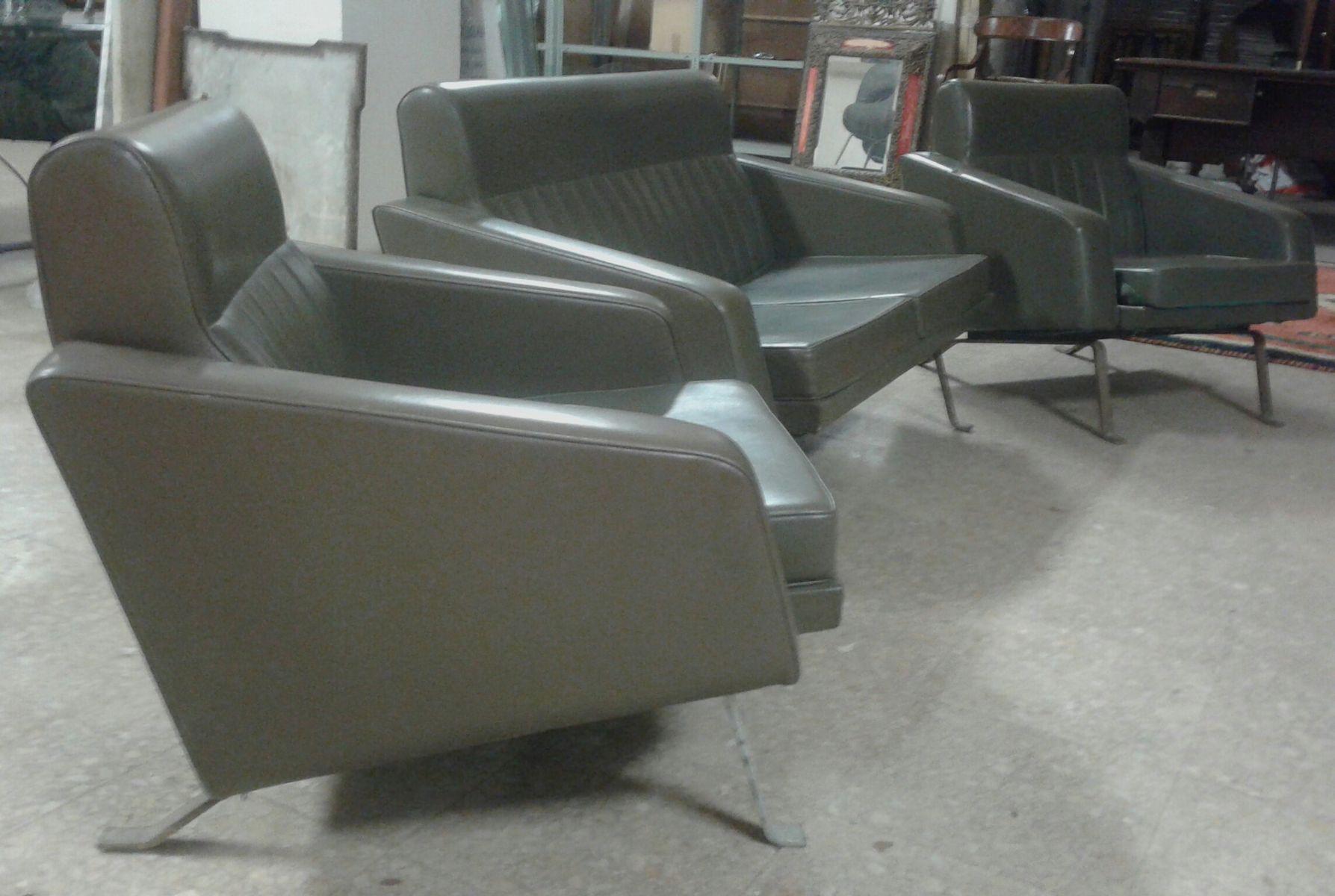 sofa und sessel von gianni moscatelli 1950er 3er set bei pamono kaufen. Black Bedroom Furniture Sets. Home Design Ideas