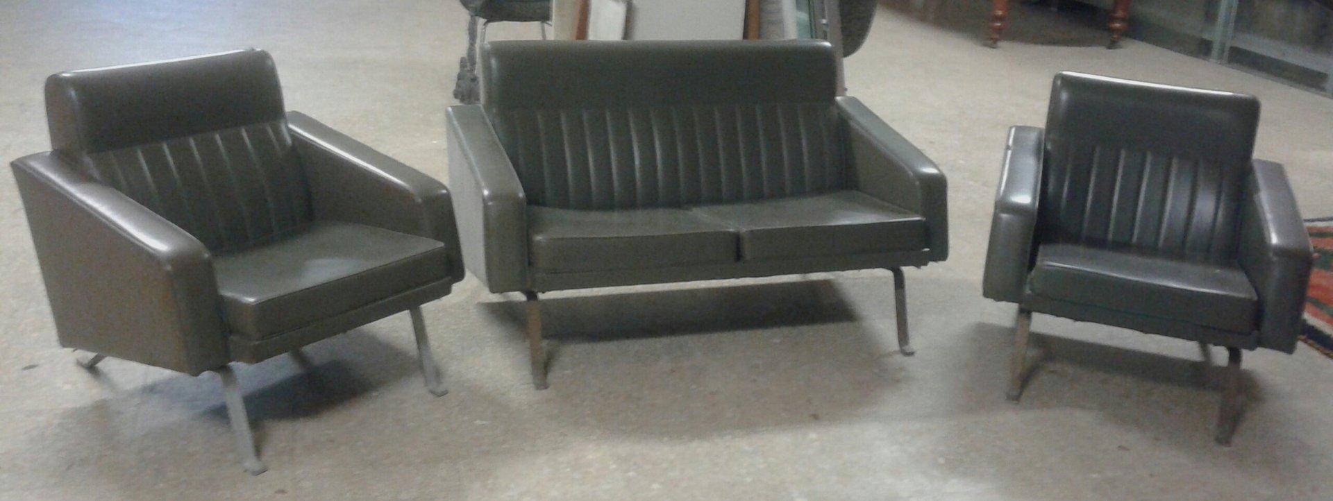 Sofa und Sessel von Gianni Moscatelli, 1950er, 3er Set