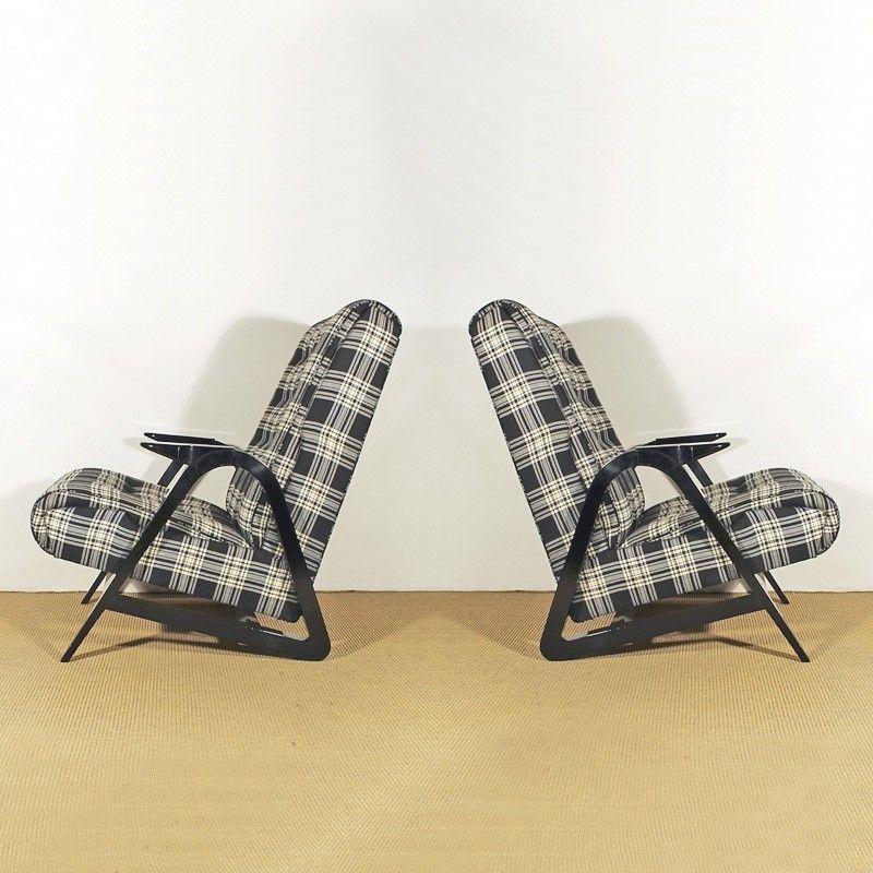 Französische Vintage Sessel, 1950er, 2er Set