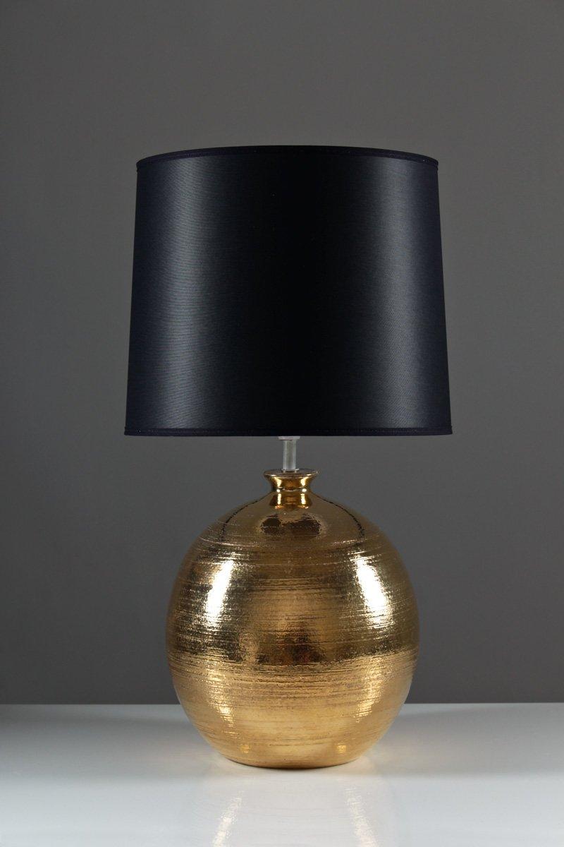 Vergoldete Tischlampe von Bitossi für Bergbom