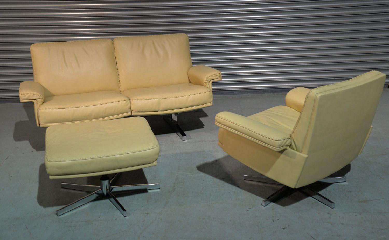 vintage ds 35 2 sitzer sofa und sessel von de sede 1970er. Black Bedroom Furniture Sets. Home Design Ideas