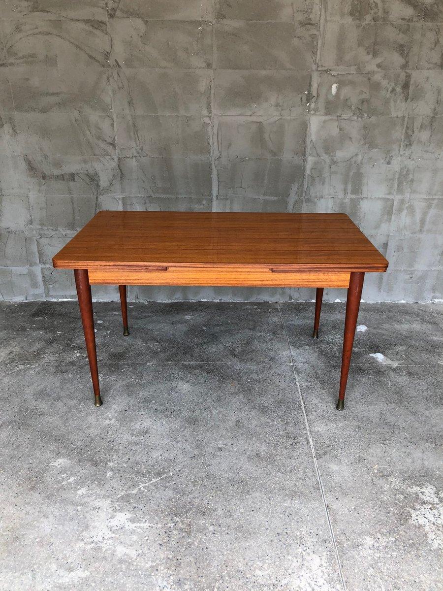 Ausziehbarer Französischer Esstisch aus Mahagoni, 1950er