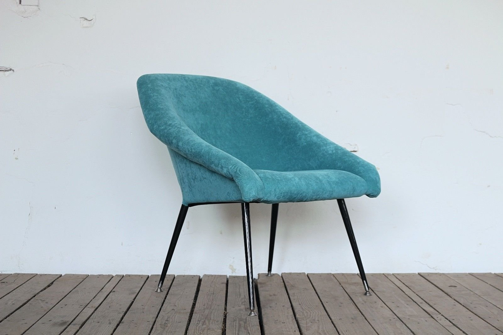 Turquoise Space Age Armchair