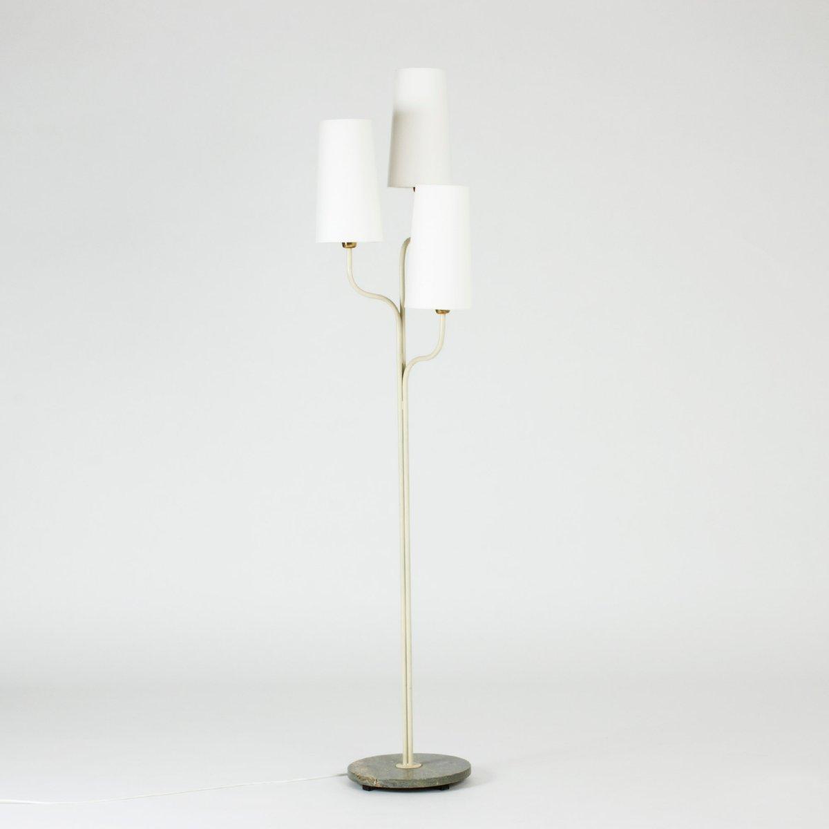 Schwedische Vintage Stehlampe mit Marmorfuß