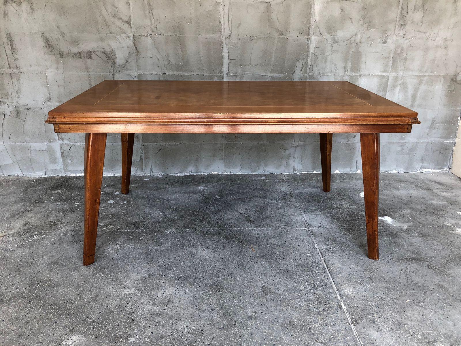 Tavolo Pranzo Art Deco tavolo da pranzo art déco con intarsi