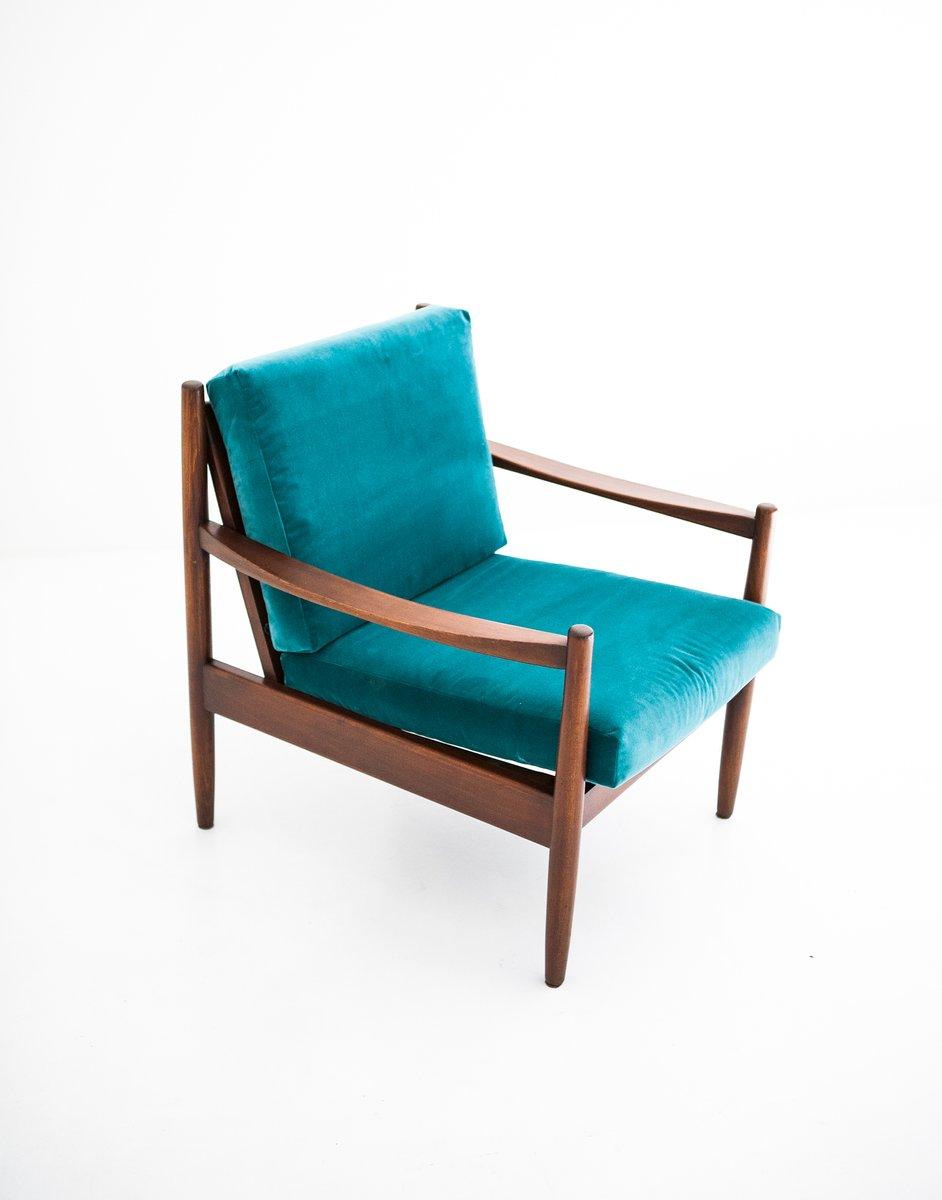 Swedish Blue Velvet Armchair, 1950s 7. $1,373.00. Price Per Piece