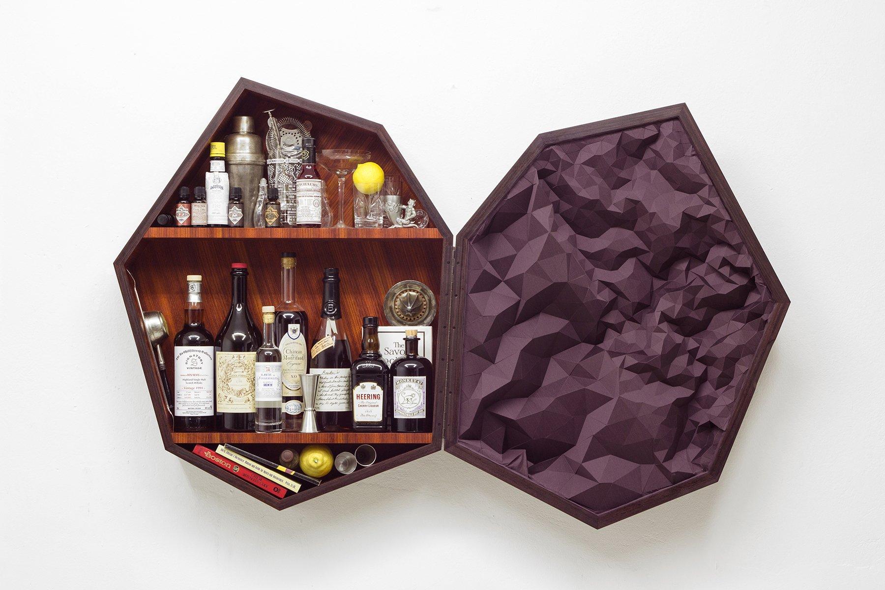 bar meuble de rangement septagon par elisa strozyk en vente sur pamono. Black Bedroom Furniture Sets. Home Design Ideas