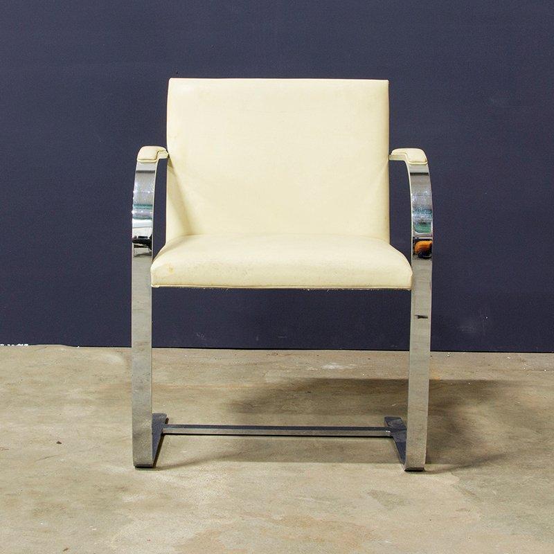 Sedia brno a base piatta di ludwig mies van der rohe anni 39 30 in vendita su pamono - Mies van der rohe sedia ...