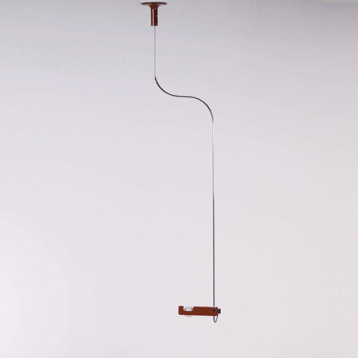 Braune Spider Lampe von Joe Colombo für Oluce, 1967