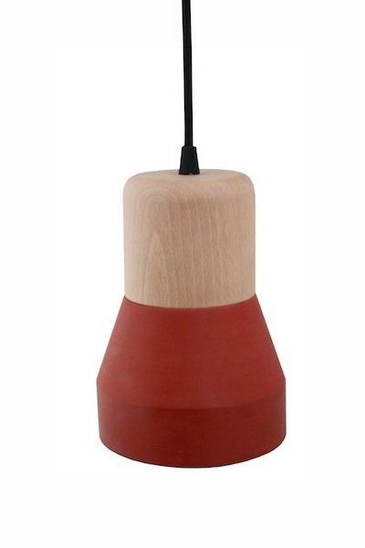 Lampe aus Zement & Holz