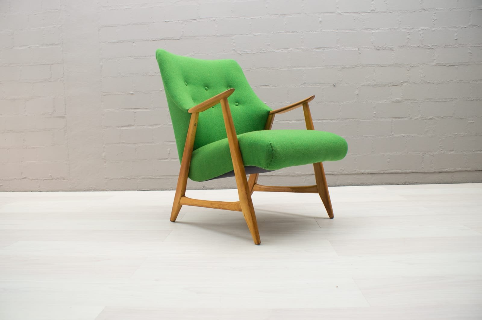 Grüner Mid-Century Sessel
