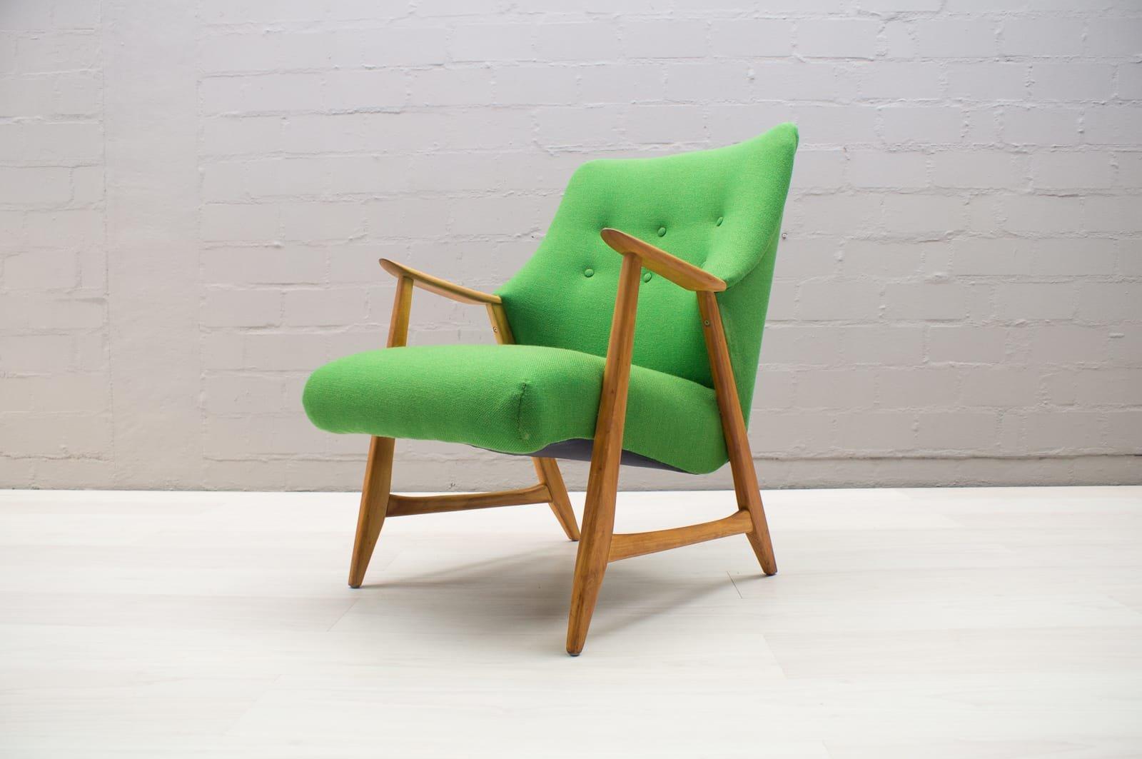 gr ner mid century sessel bei pamono kaufen. Black Bedroom Furniture Sets. Home Design Ideas