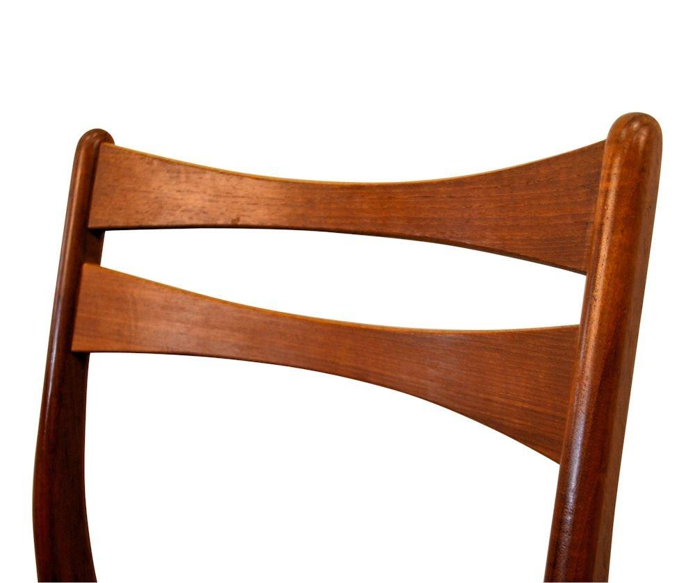 d nische vintage teak esszimmerst hle in weinrotem bezug 6er set bei pamono kaufen. Black Bedroom Furniture Sets. Home Design Ideas