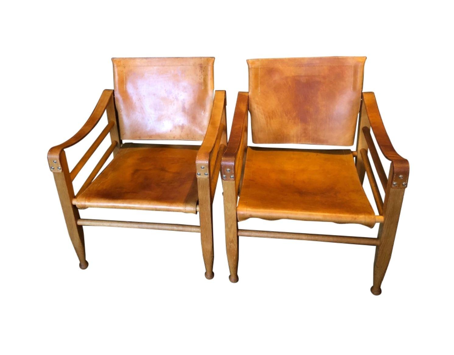 Safari Chairs und Tisch von Børge Mogensen für Aage Bruun und Son, 195...