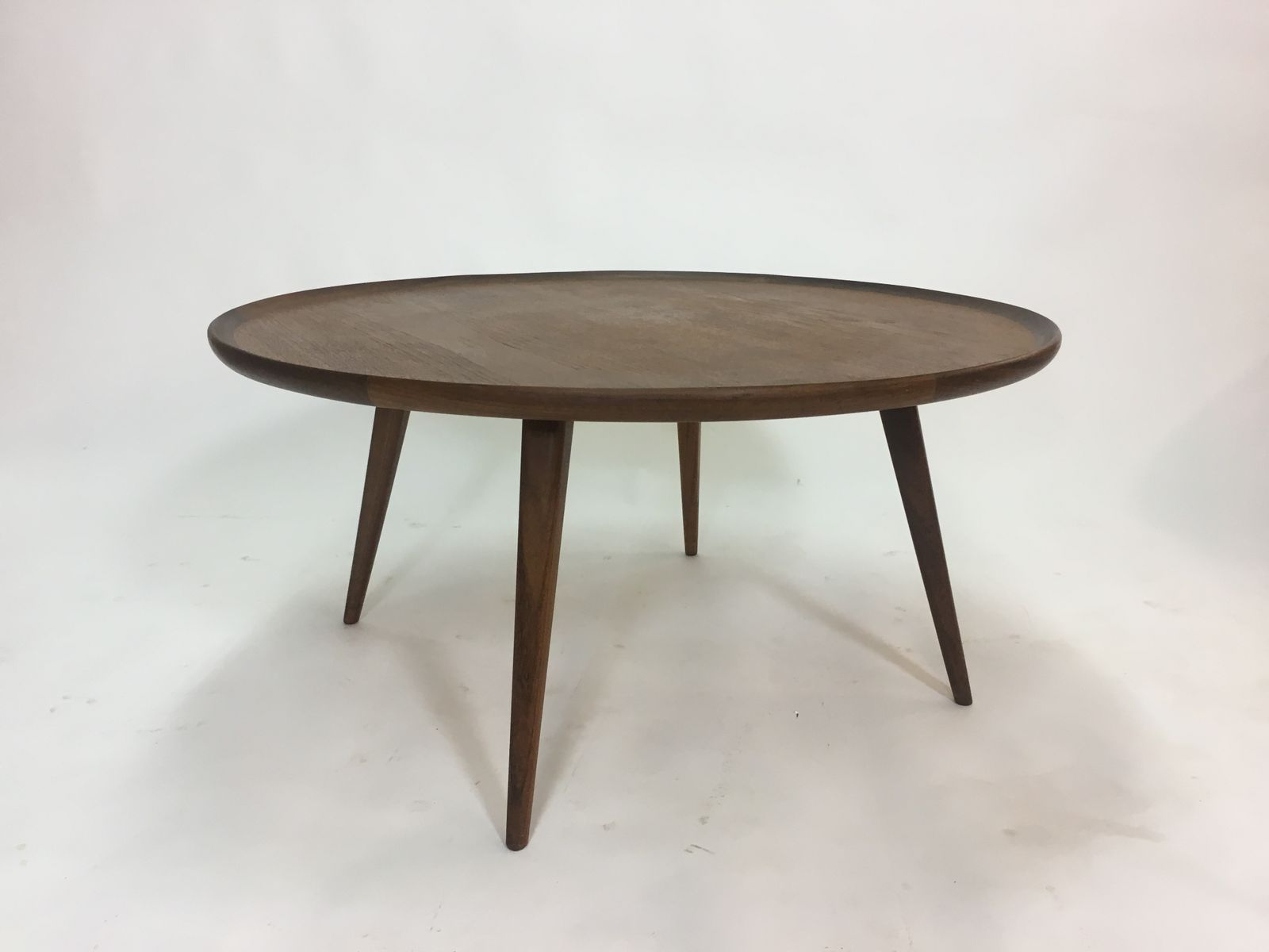 Mid Century Round Teak Coffee Table 1950s 8 561 00