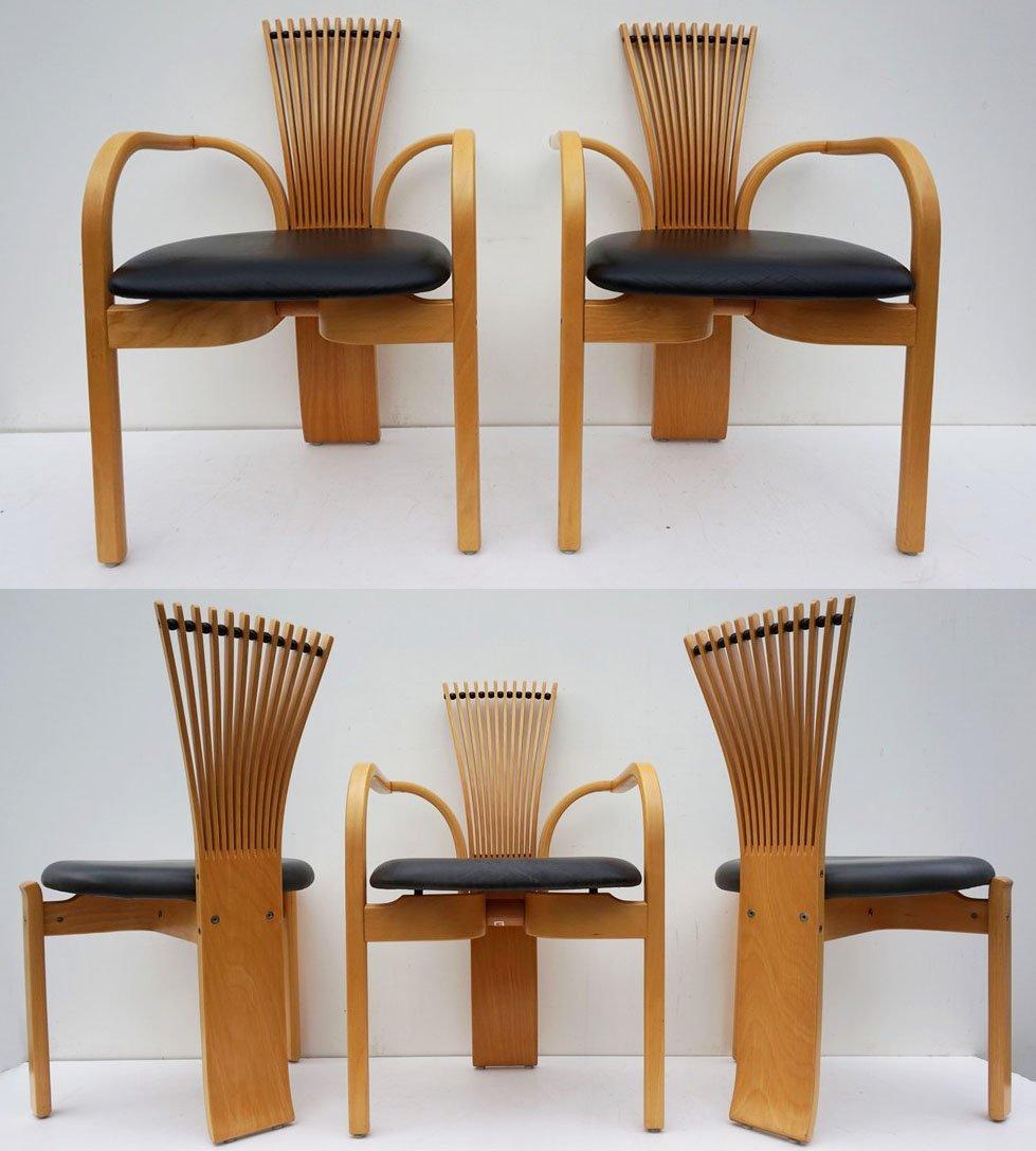 skandinavische totem st hle von torstein nilsen f r westnofa 1986 5er set bei pamono kaufen. Black Bedroom Furniture Sets. Home Design Ideas