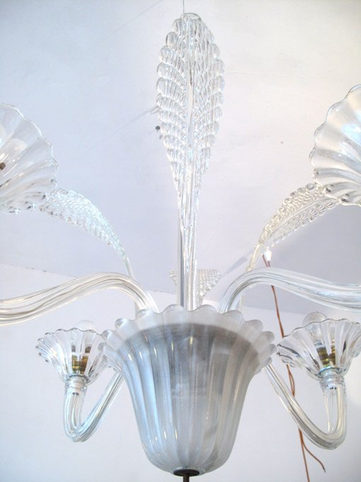 lustre en cristal murano 1950s en vente sur pamono. Black Bedroom Furniture Sets. Home Design Ideas