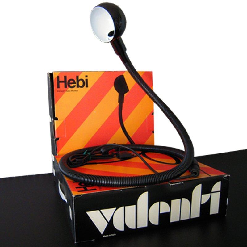 Schwarze Hebi Tischlampe von Isao Hosoe für Valenti, 1970er