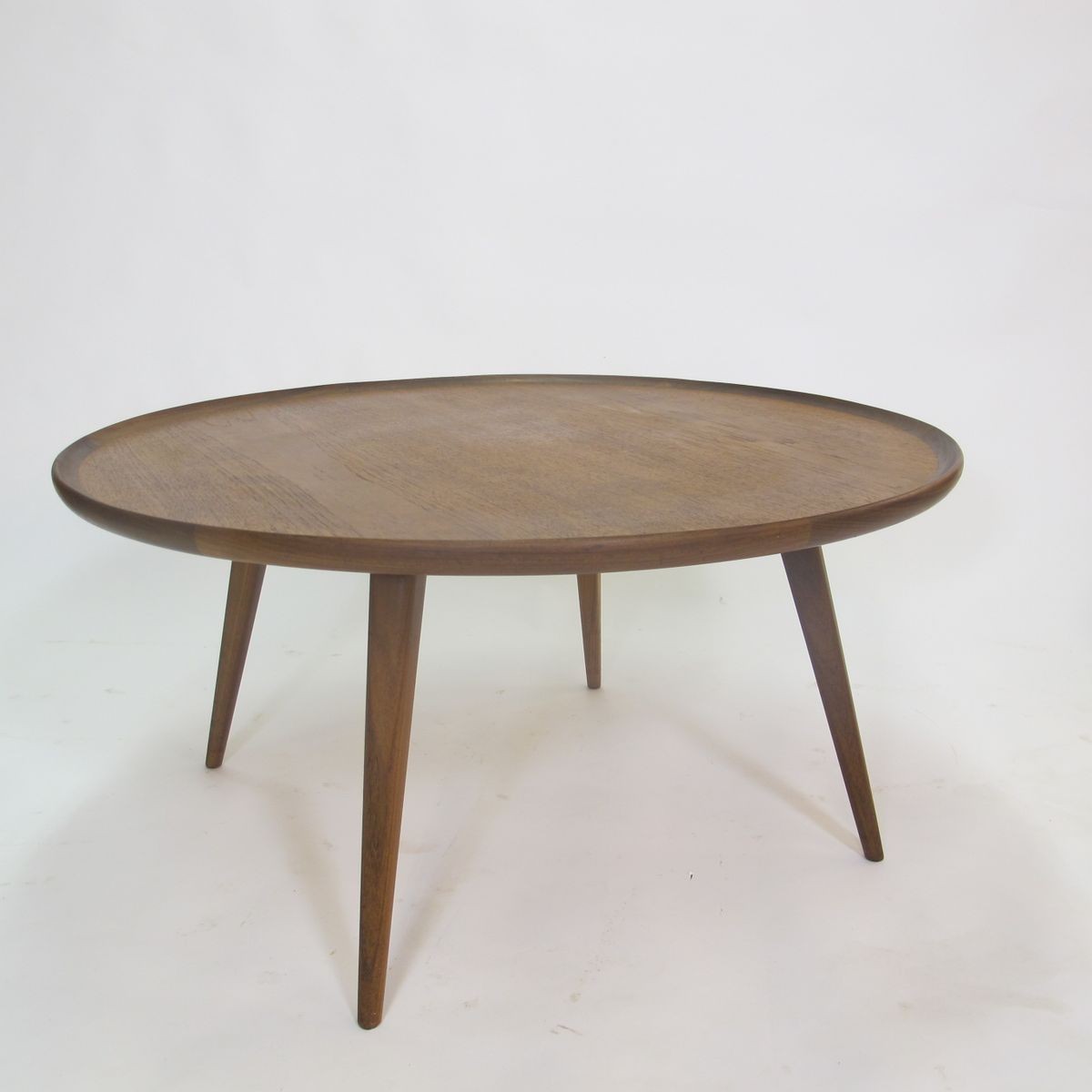 Mid-Century Round Teak Coffee Table, 1950s For Sale At Pamono