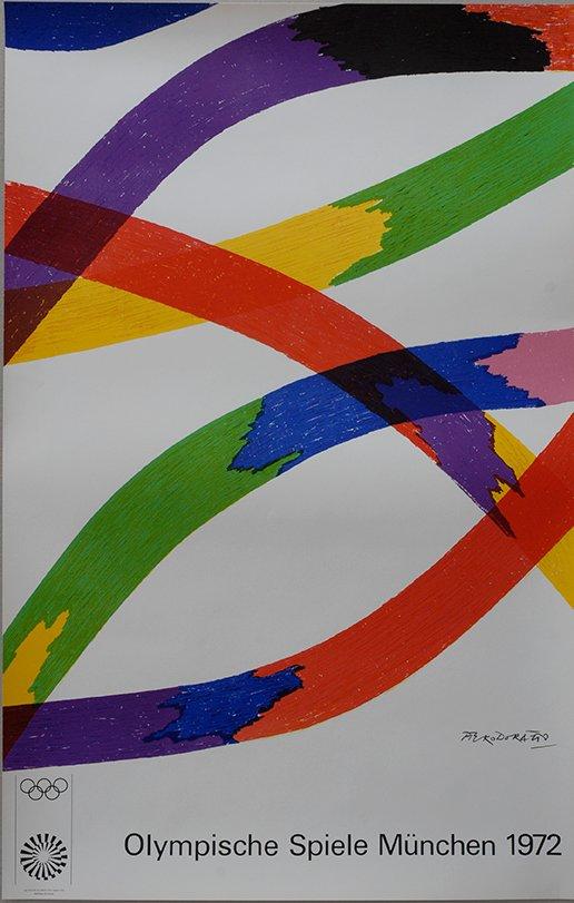 Olympische Spiele in München Lithographie