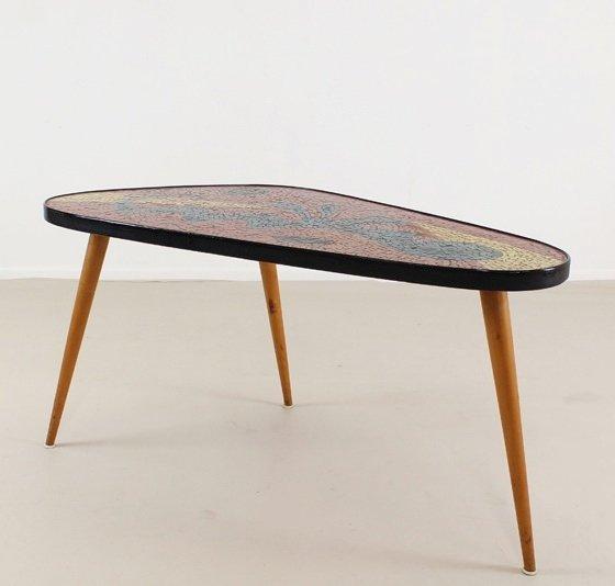 Vintage German Mosaic Coffee Table 1965 4 589 00 No