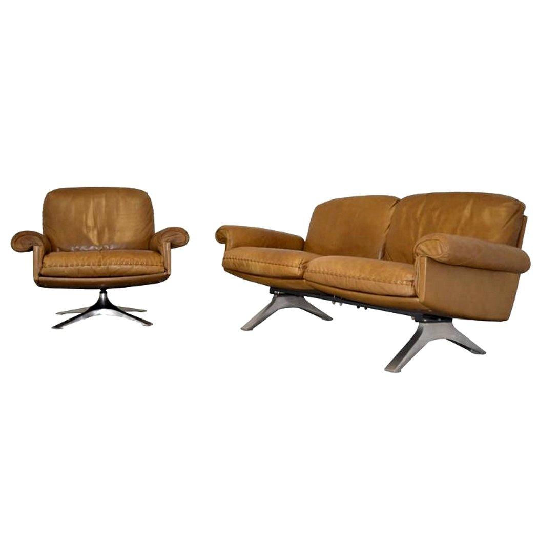 DS 31 Zwei-Sitzer Sofa & Klubsessel von De Sede, 1970er