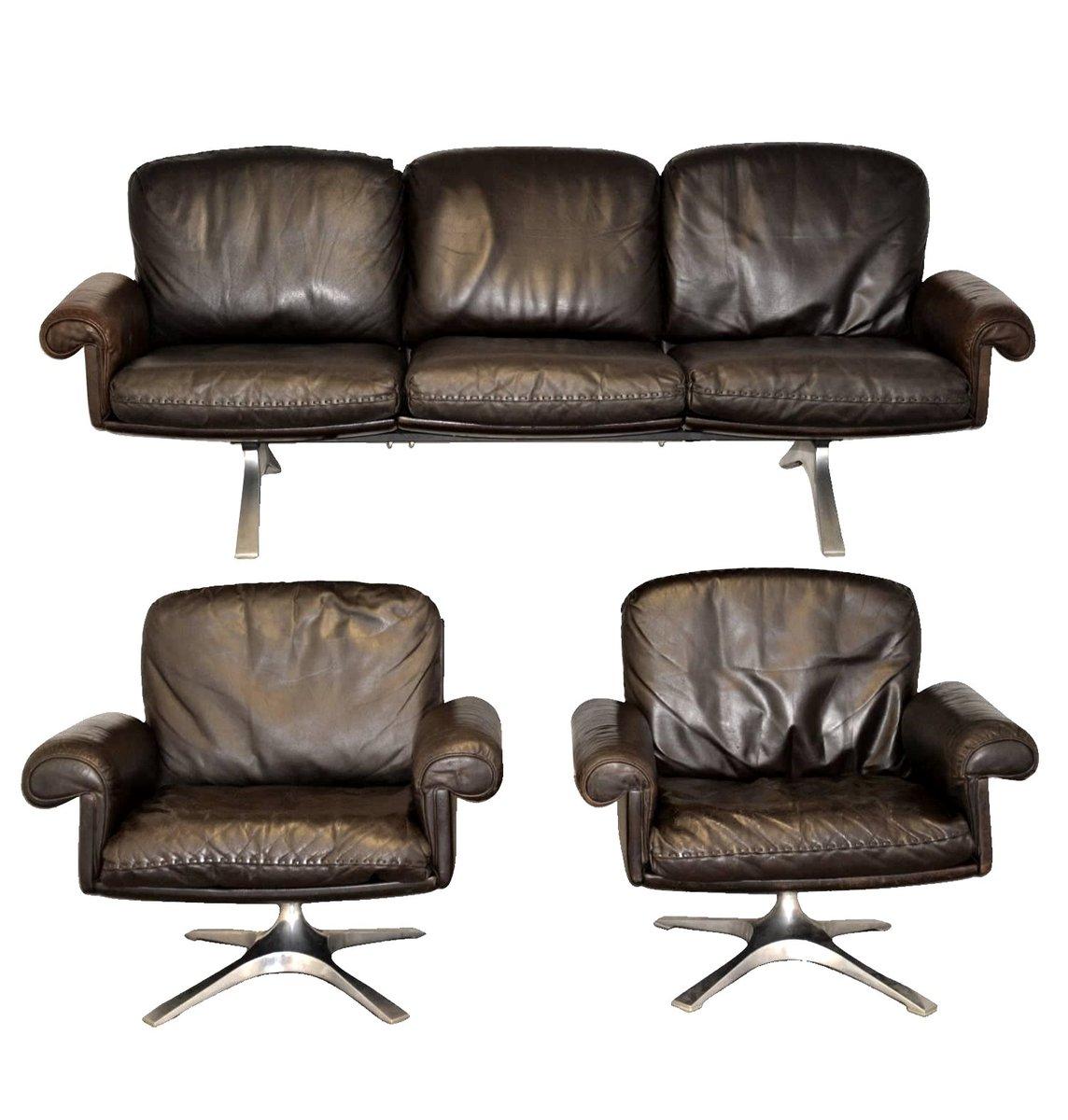 Vintage DS 31 Sessel und Sofa von de Sede, 3er Set