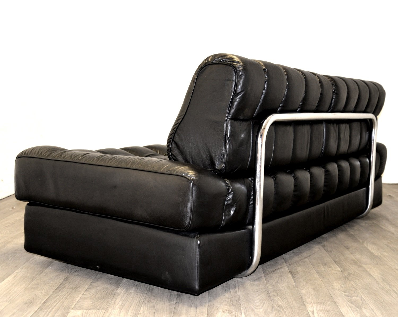 schwarzes ds 85 leder schlafsofa von de sede 1960er bei pamono kaufen. Black Bedroom Furniture Sets. Home Design Ideas