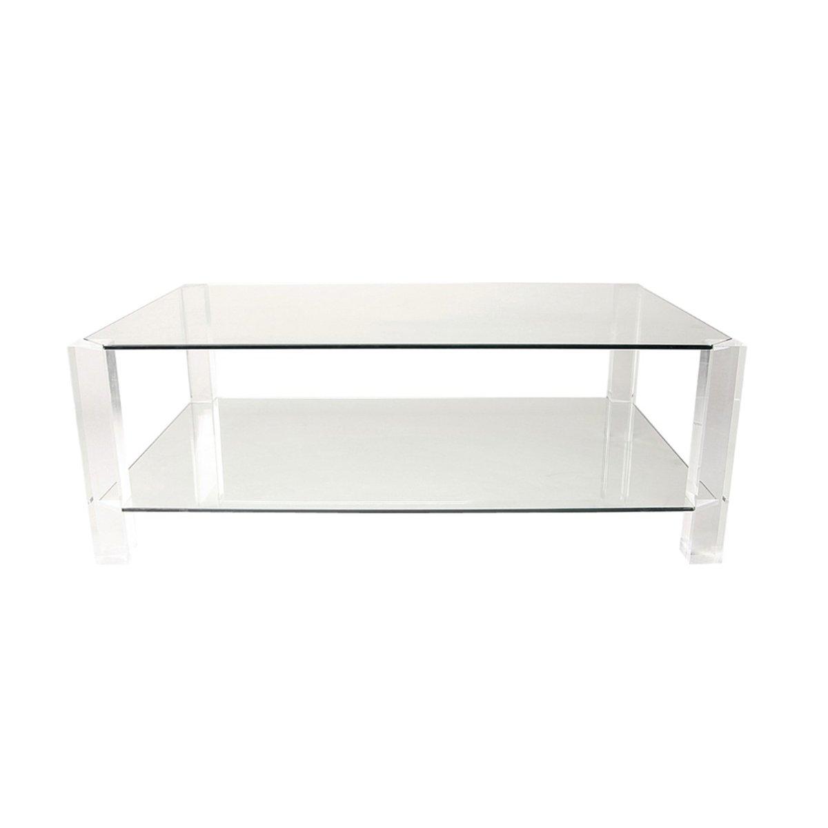 Glas & Plexiglas Couchtisch von Andrew & Sarah Hills für Porta Romana,...