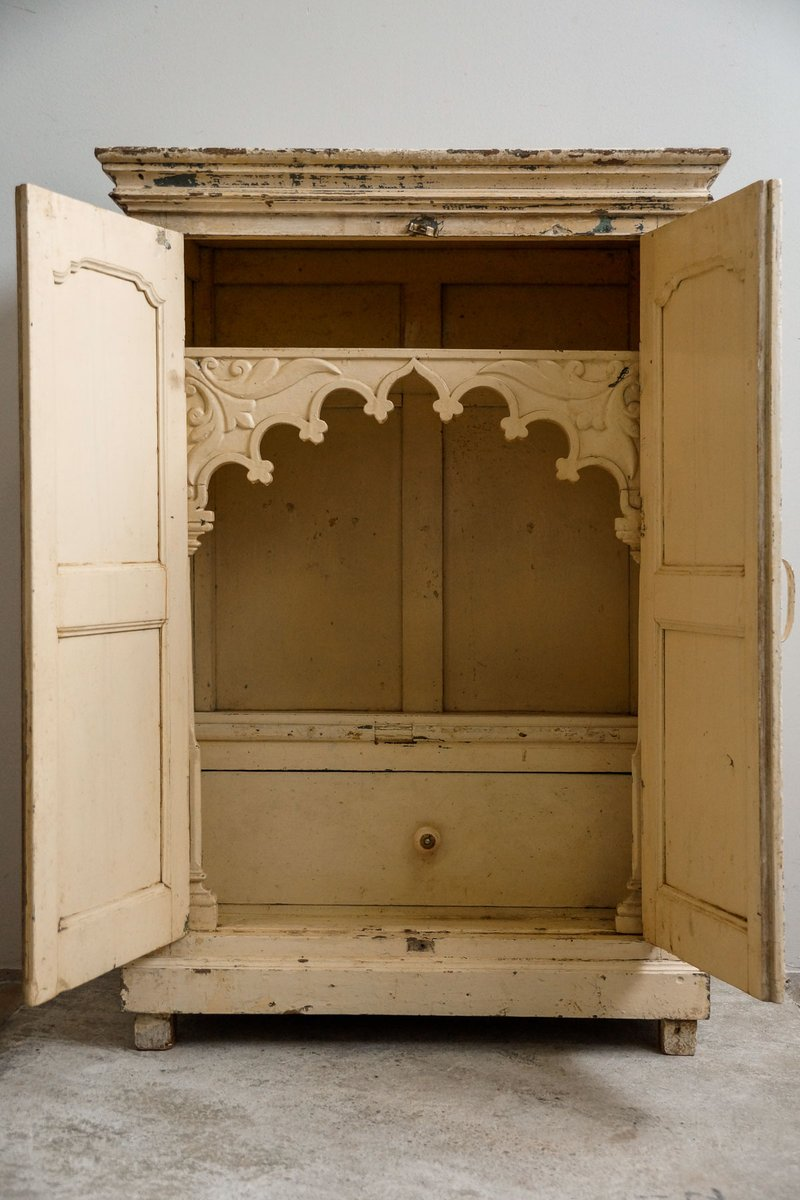 Antique Indian Temple Cabinet, 1900s