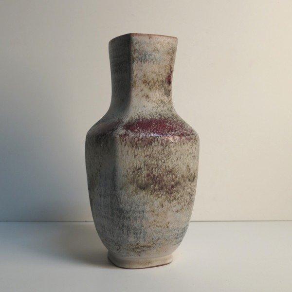 Große Vintage Keramikvase von Karlsruher Majoli...
